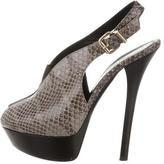 Fendi Snakeskin Slingback Sandals