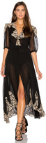 Nightcap Clothing by Carisa Rene Antique Lace Wrap Gown