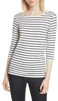Majestic Filatures Stripe Boat Neck Shirt