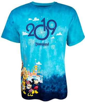 Disney Mickey Mouse and Friends Tie-Dye T-Shirt for Adults Disneyland 2019