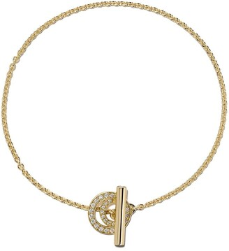 Georg Jensen 18kt yellow gold Halo brilliant cut diamond bracelet