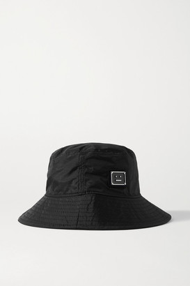 Acne Studios Appliqued Ripstop Bucket Hat - Black