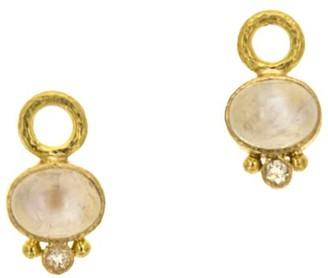 Elizabeth Locke 19K Yellow Gold & Moonstone Drop Earrings