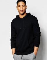 Asos Loungewear Hoodie In Black Waffle Fabric