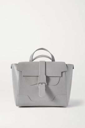 Senreve Midi Maestra Convertible Textured-leather Shoulder Bag - Dark gray
