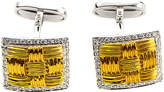 Roberto Coin 18K Two-Tone 0.47 Ct. Tw. Diamond, Mother-Of-Pearl, & Pearl Cufflinks