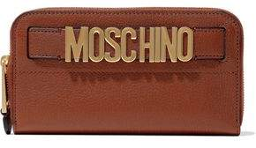Moschino Embellished Textured-leather Continental Wallet