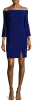 ABS by Allen Schwartz Off Shoulder Split Sheath Dress