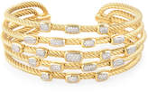 David Yurman Women's Vintage 18K Yellow Gold & 0.55 Total Ct. Diamond Confetti Wide Cuff Bracelet