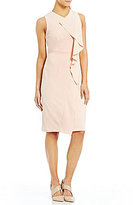 Calvin Klein Ruffle-Front Sheath Dress