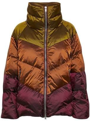 Gestuz Umber Yellow HelinGZ Outerwear Jacket - 36   nylon   brown   burgundy - Brown/Brown