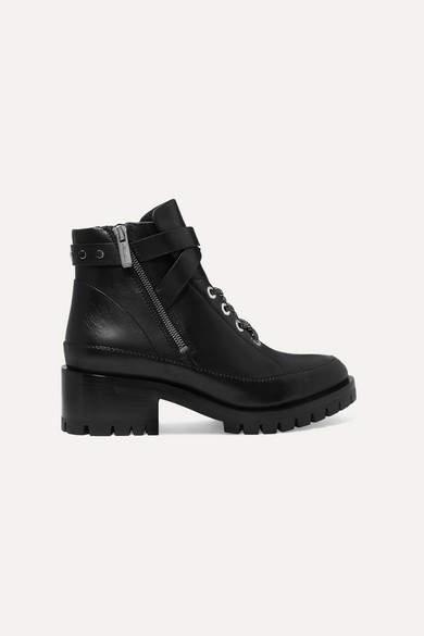 3.1 Phillip Lim Hayett Leather Ankle Boots - Black
