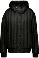 Carven Appliquéd Quilted Shell Hooded Coat