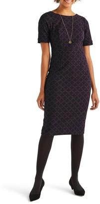 Boden Talia Short Sleeve Textured Dress