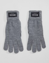 Nicce London Gloves In Grey