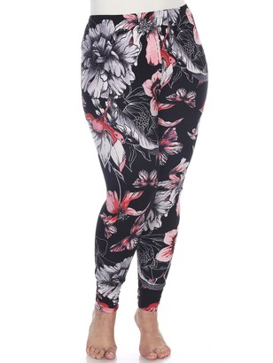 White Mark Plus Size Holiday Printed Leggings