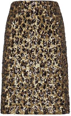 Alice + Olivia Ramos Fitted Sequin Skirt