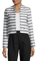 Calvin Klein Striped Tweed Jacket