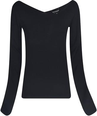 Emporio Armani Wide V-neck Sweater