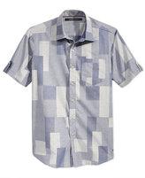 Sean John Men's Short-Sleeve Patchwork Shirt