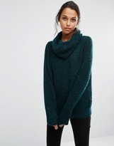 Selected Sille Knitted Sweater with Roll Neck