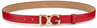 Dolce & Gabbana Logo Leather Belt