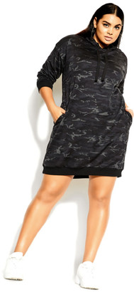 City Chic Camo Lounger Dress - camo