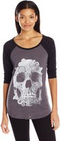 Metal Mulisha Juniors Decay Burnout Raglan Graphic Tee