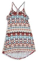 T2 Love Girl's Native Printed Ruffled Swing Dress