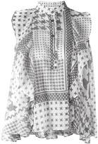 IRO houndstooth pattern blouse - women - Cotton - XS