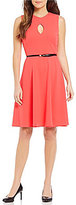 Calvin Klein Keyhole Fit-and-Flare Dress