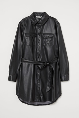 H&M MAMA Faux Leather Shirt