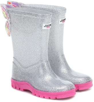 Sophia Webster Mini Butterfly rubber rain boots