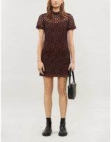 Sandro Floral lace mini dress