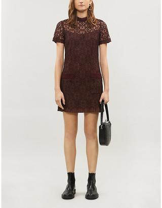 Sandro Floral lace mini dress