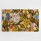 World Market Hope Floral Coir Doormat