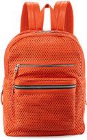 Ash Danica Large Perforated Leather Backpack, Mandarin