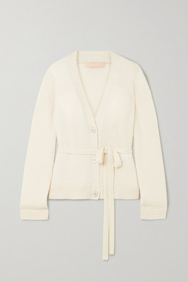 Brock Collection Belted Cashmere Cardigan - Beige