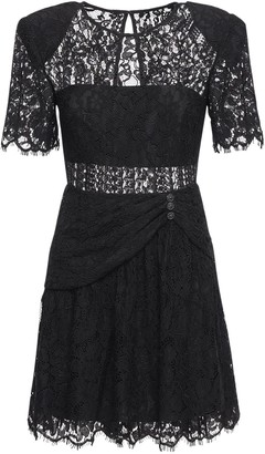 Self-Portrait Fine Cord Lace Mini Dress