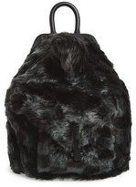KENDALL + KYLIE Koenji Faux Fur Backpack - Black