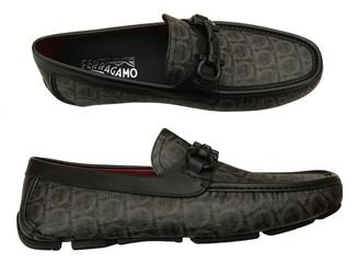 Salvatore Ferragamo Gancini Grey Leather Flats