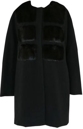 Moncler Black Faux fur Coats