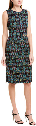 Prabal Gurung Jacquard Silk-Blend Sheath Dress