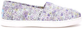 Toms Purple Canvas Ditsy Floral Youth Classics