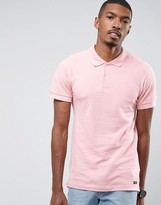 Pull&bear Short Sleeve Polo In Pink