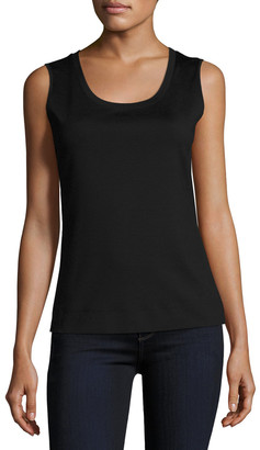 Lafayette 148 New York Stretch Cotton Scoop Neck Tank