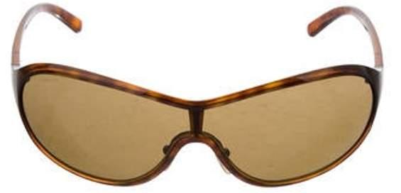 Shield Tinted Sunglasses Brown Shield Tinted Sunglasses