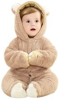 Happy Cherry Baby Infant Buttonper Rabbit Hoody Jumpsuit Romper Outfit Coat for 12-17M