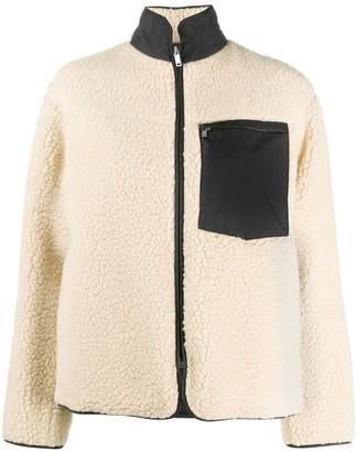 Jil Sander Shearling Zip-Up Jacket