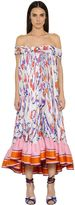 Emilio Pucci Off Shoulders Printed Double Georgette